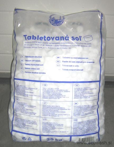 Sol za pomivalni stroj za mehčanje vode.